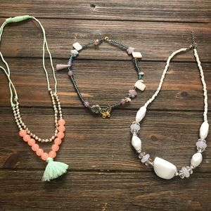 Jewelry - Lot of 3 summer necklaces